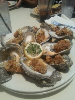 Fried oysters ... Some of the best oysters I've tried anywhere. Make sure to try out seafood in New Orleans.