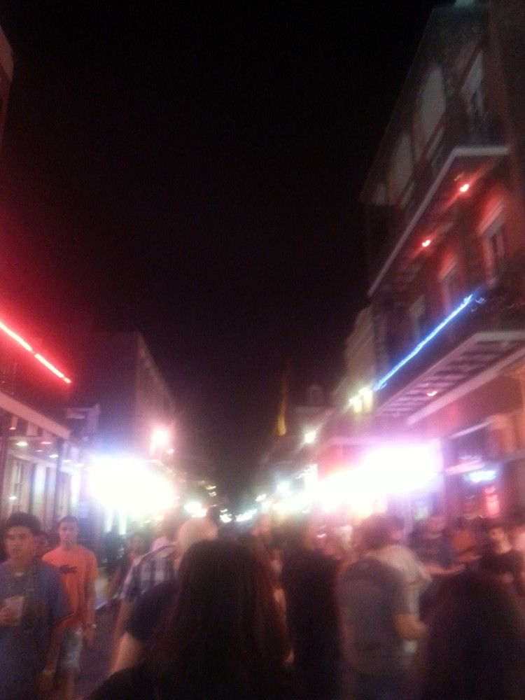 The blur that was Bourbon street 🍾🍺