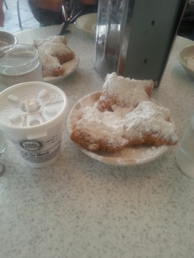 Beignets: from the famous Cafe du Monde.... These tasted like mini beaver tail balls ;) basically fried dough balls doused in icing sugar... Pretty much best thing ever